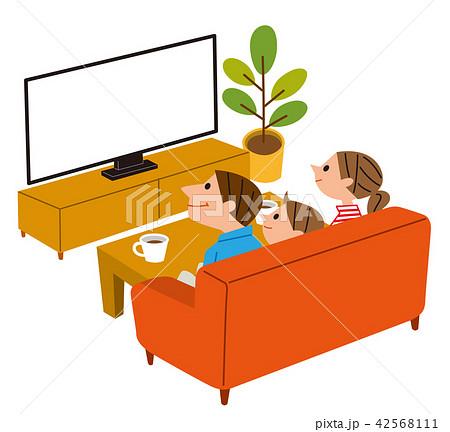 テレビを見るファミリー 42568111
