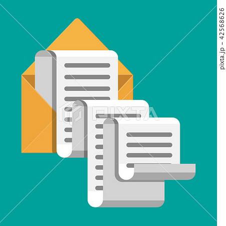 paper envelope letter correspondence のイラスト素材 42568626 pixta