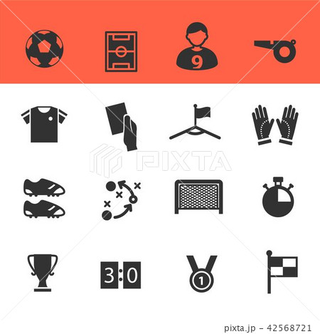 Soccer Icons Set with White Background 42568721
