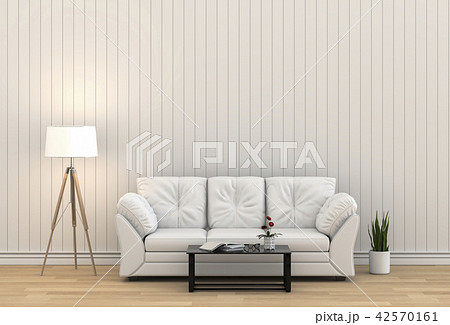 Living room interior in modern style, 3d render 42570161