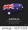 Australia Flag Made of Glitter Sparkle Brush Paint 42571326