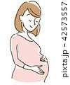 妊婦さん 飾り無し 42573557