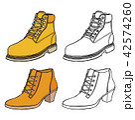 Set of Warm female half-boot 42574260