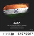 India Flag Made of Glitter Sparkle Brush Paint 42575567