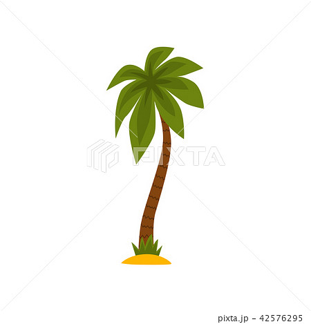 Green palm tree vector Illustration on a white background 42576295