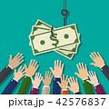手 お金 通貨のイラスト 42576837