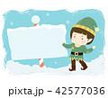 Kid Boy Elf Board Pole Illustration 42577036