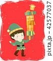 Kid Boy Elf Gifts Illustration 42577037