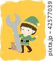 Kid Boy Elf Mechanic Wrench Tool Box Illustration 42577039