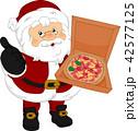 サンタ サンタクロース ピザのイラスト 42577125