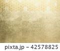 和柄 背景素材 金箔のイラスト 42578825
