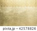 和柄 背景素材 金箔のイラスト 42578826