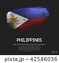 Philippines Flag Made of Glitter Brush Paint 42586036