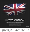 United Kingdom Flag Made of Glitter Brush Paint 42586132