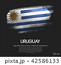 Uruguay Flag Made of Glitter Sparkle Brush Paint 42586133
