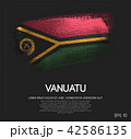 Vanuatu Flag Made of Glitter Sparkle Brush Paint 42586135