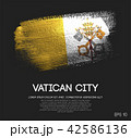 Vatican City Flag Made of Glitter Brush Paint 42586136