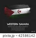 Sahrawi Flag Made of Glitter Sparkle Brush Paint 42586142