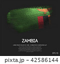 Zambia Flag Made of Glitter Sparkle Brush Paint 42586144