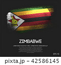 Zimbabwe Flag Made of Glitter Sparkle Brush Paint 42586145