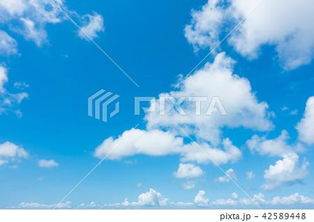青空 空 雲 背景 背景素材 42589448