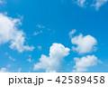 青空 空 雲の写真 42589458