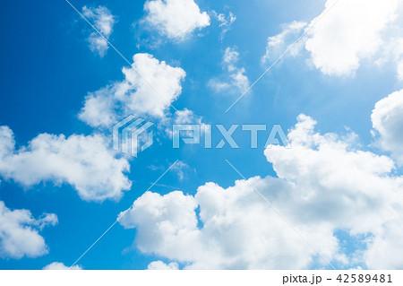 青空 空 雲 背景 背景素材 42589481