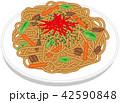 麺類 食べ物 ベクターのイラスト 42590848