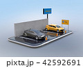 電気自動車 自動車 カーシェアリングのイラスト 42592691