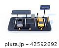 電気自動車 カーシェアリング カーシェアのイラスト 42592692