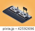 電気自動車 自動車 カーシェアリングのイラスト 42592696