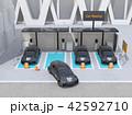 電気自動車 カーシェアリング 駐車場のイラスト 42592710