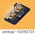 電気自動車 自動車 カーシェアリングのイラスト 42592723