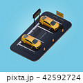 電気自動車 自動車 カーシェアリングのイラスト 42592724