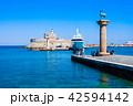 ロードス島 城塞 海の写真 42594142