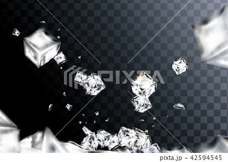 Flying ice cubes 42594545