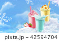 Summer ice shaved takeout cup 42594704