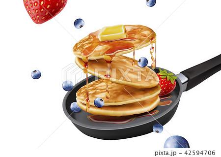 Delicious fluffy pancake 42594706