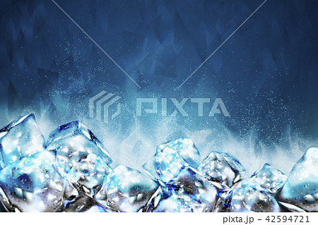 Frosty ice cubes background 42594721
