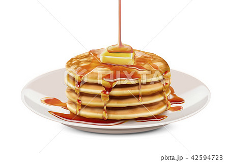 Delicious fluffy pancake 42594723