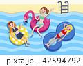 ビーチ 浜辺 山車のイラスト 42594792
