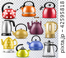 Kettle vector teakettle or teapot to drink tea on teatime and boiled coffee beverage in electric 42595818