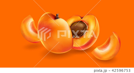 Apricot and slices 42596753