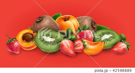 Apricot, strawberry and kiwi 42596889