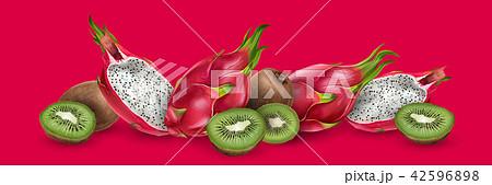 Dragon fruit and kiwi 42596898