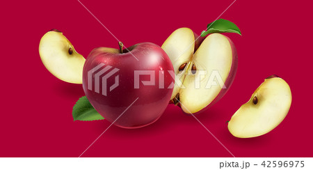 Red apples on a background 42596975