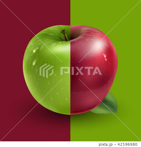 Green and red apples 42596980