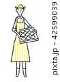 女性 パン屋 パンのイラスト 42599039