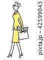 ビジネス 歩く 通勤のイラスト 42599043
