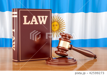 Argentinean law and justice concept, 3D rendering 42599273